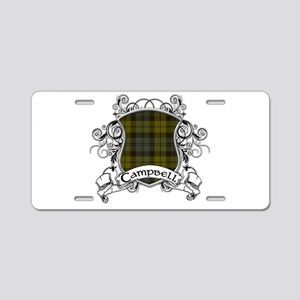 Campbell Tartan Shield Aluminum License Plate