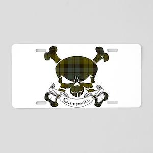 Campbell Tartan Skull Aluminum License Plate
