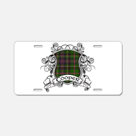 Cooper Tartan Shield Aluminum License Plate