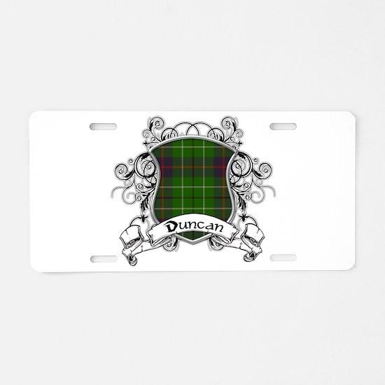 Duncan Tartan Shield Aluminum License Plate