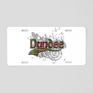 Dundee Tartan Grunge Aluminum License Plate