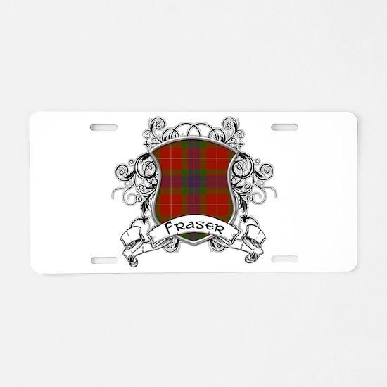 Fraser Tartan Shield Aluminum License Plate
