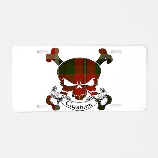 Graham Tartan Skull Aluminum License Plate