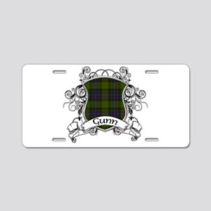 Gunn Tartan Shield Aluminum License Plate