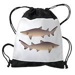 Sand Tiger Shark Drawstring Bag