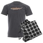 Sand Tiger Shark Men's Charcoal Pajamas