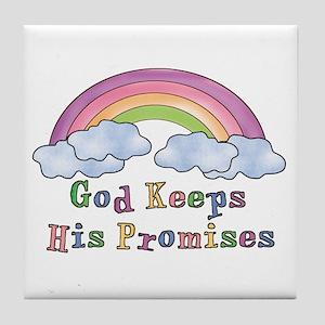 God Keeps His Promises Tile Coaster