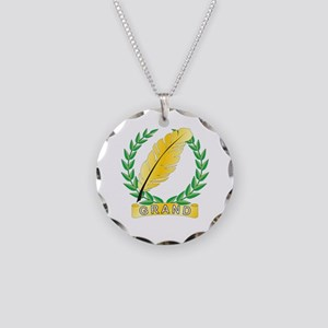 Grand Recorder Necklace Circle Charm