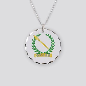 Grand Drill Leader Necklace Circle Charm