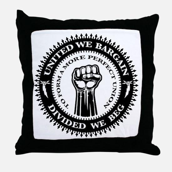 United We Bargain Throw Pillow