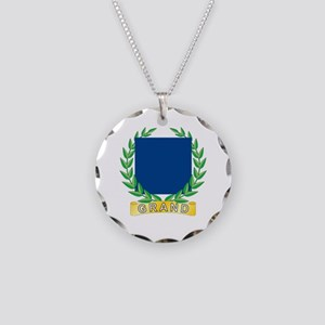 Grand Patriotism Necklace Circle Charm