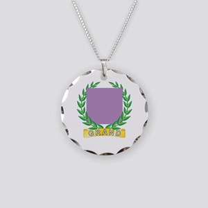 Grand Service Necklace Circle Charm