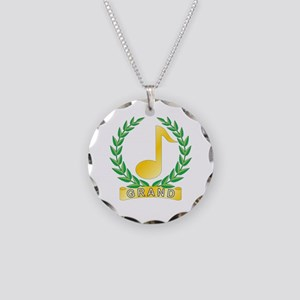 Grand Musician Necklace Circle Charm