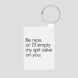 Spit Valve Aluminum Photo Keychain