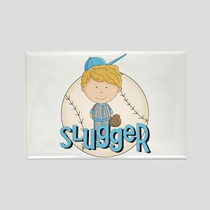 Baseball Slugger Rectangle Magnet