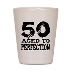 50th Birthday Shot Glass