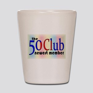The 50 Club Shot Glass
