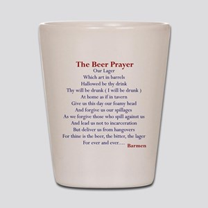 Beer Prayer, Beer Humor Shot Glass