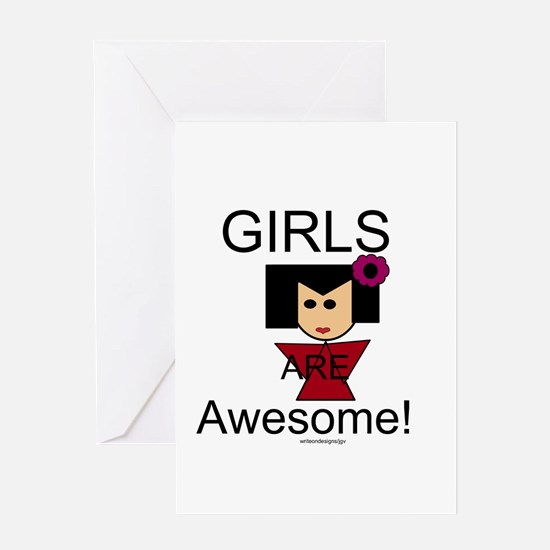 Girls Are Awesome Greeting Card