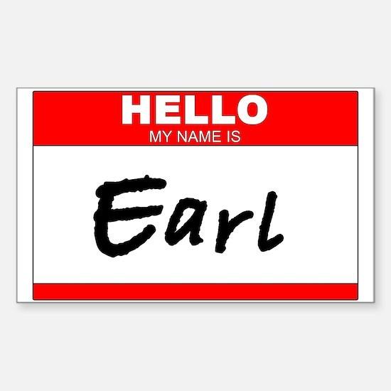 EARL!!! Rectangle Decal