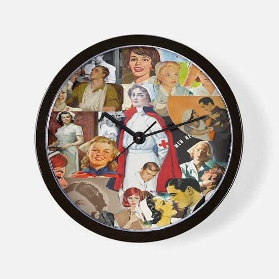 Vintage Nurse Wall Clock