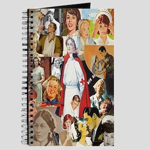 Vintage Nurse Collage Journal