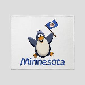 Minnesota Penguin Throw Blanket