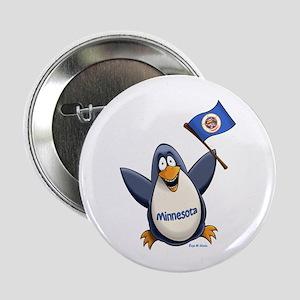 "Minnesota Penguin 2.25"" Button"