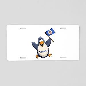 Minnesota Penguin Aluminum License Plate