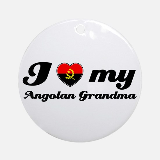 I love My Angolan Grandmother Ornament (Round)
