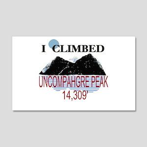 I Climbed UNCOMPAHGRE PEAK 22x14 Wall Peel