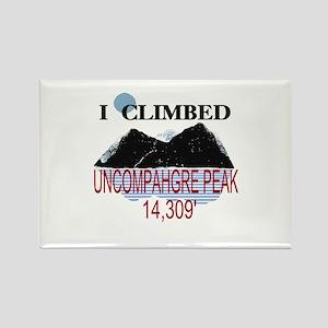 I Climbed UNCOMPAHGRE PEAK Rectangle Magnet