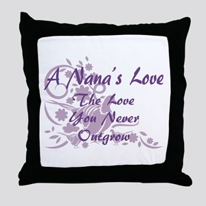 Nana Love Throw Pillow