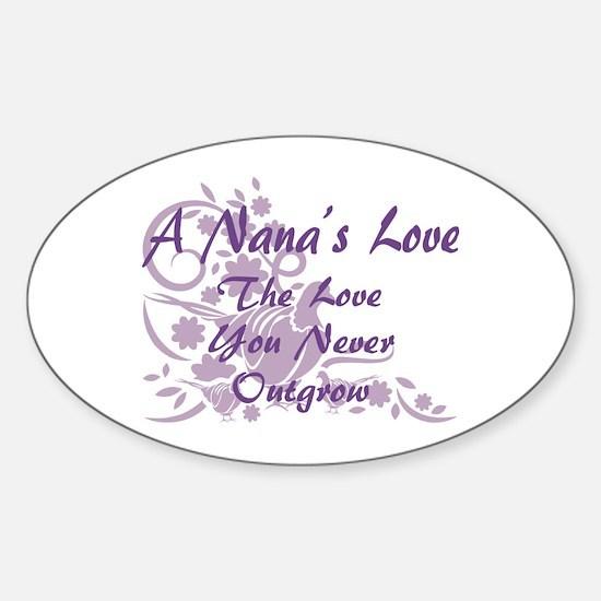 Nana Love Sticker (Oval)