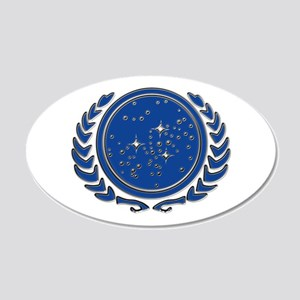 United Federation of Planets 22x14 Oval Wall Peel