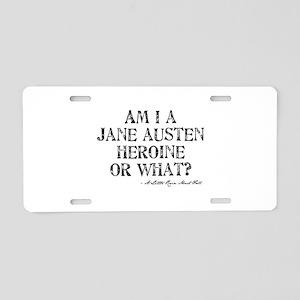 Jane Austen Quote Aluminum License Plate