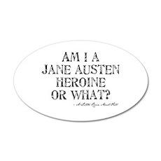Jane Austen Quote 22x14 Oval Wall Peel