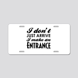Entrance Aluminum License Plate
