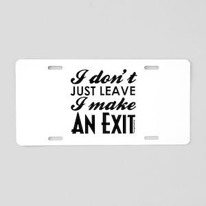 Exit Aluminum License Plate