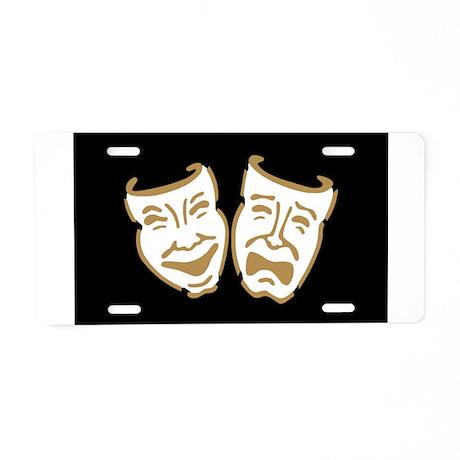 Drama Masks Aluminum License Plate