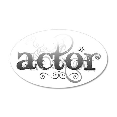 Urban Actor 22x14 Oval Wall Peel