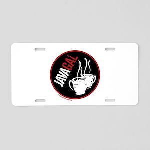 Java Gal Aluminum License Plate
