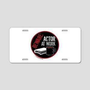 Actor at Work Aluminum License Plate