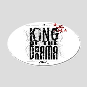 King of the Drama 22x14 Oval Wall Peel