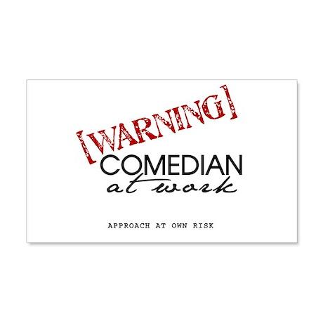 Warning: Comedian 22x14 Wall Peel
