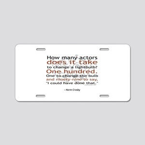 Norm Crosby Actor Joke Aluminum License Plate