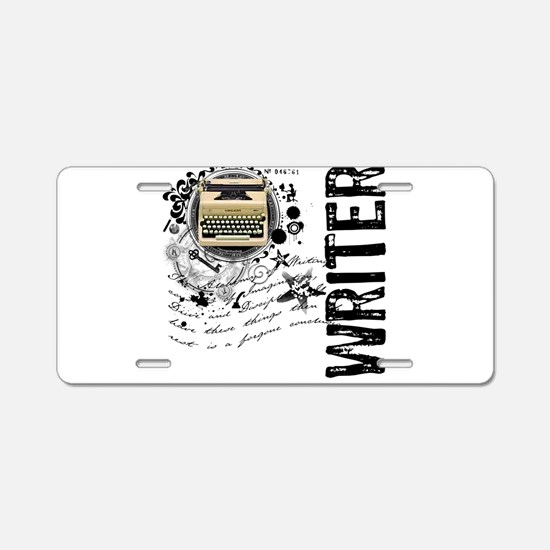 Writer Alchemy Aluminum License Plate
