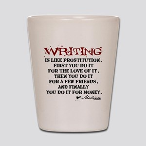 Moliere Writing Quote Shot Glass