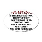 Moliere Writing Quote 38.5 x 24.5 Oval Wall Peel