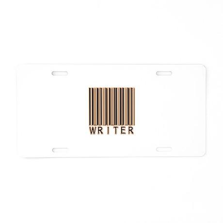 Writer Barcode Aluminum License Plate